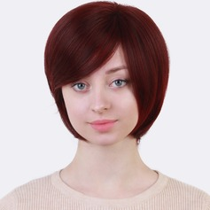 Kinky Straight Synthetic Hair Synthetic Wigs 130g