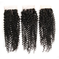 "4""*4"" 4A Non remy Kinky Curly Human Hair Closure (Sold in a single piece) 100g (235152662)"