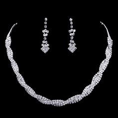 Vintage Alloy/Rhinestones Ladies' Jewelry Sets