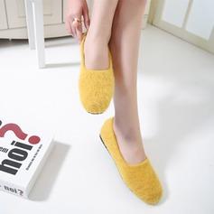 Женщины Замша Плоский каблук На плокой подошве Закрытый мыс с Другие обувь