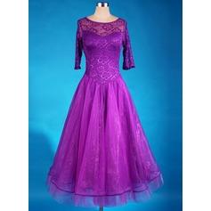 Женщины Одежда для танцев Спандекс Органза Латино Платья
