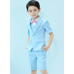 Boys 5 Pieces Cute Ring Bearer Suits /Page Boy Suits With Jacket Shirt Vest Bow Tie Shorts