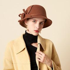 Señoras' Hermoso/Simple/Pretty Mezcla de lana Bombín / cloché Sombrero