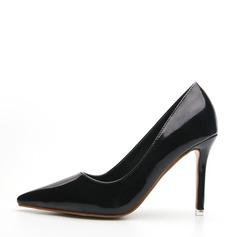 Frauen Lackleder Stöckel Absatz Absatzschuhe Geschlossene Zehe Schuhe