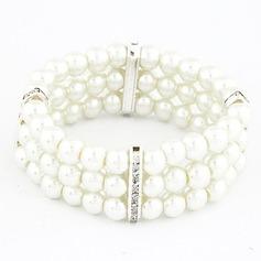Unique Alloy With Imitation Pearls Ladies' Bracelets