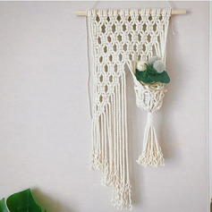 Casual Cotton Wooden Home Décor (Sold in a single piece)