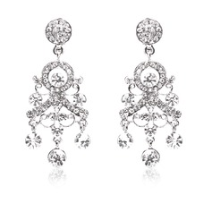 Gorgeous Alloy/Rhinestones Ladies' Earrings
