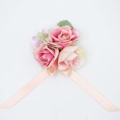 Magnifique Satiné/Tissu Corsage du poignet (vendu en une seule pièce) -