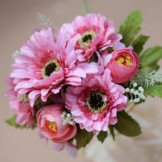 Симпатичный/простой Круглый Атлас Свадебные букеты/Невесты Букеты