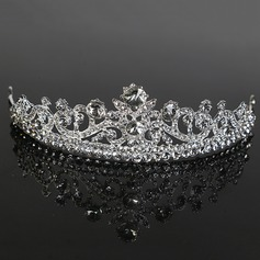 Ladies Pretty Alloy Tiaras With Rhinestone (Sold in single piece) (042168276)