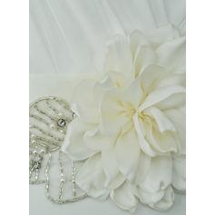 Mode Satäng Skärpband med Blomma