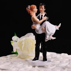 """Estatueta """"Doce Momento"""" Resina Casamento Decorações de bolos"""