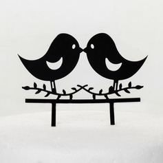 Pássaros Adoráveis Acrílico Casamento Decorações de bolos