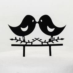 älskvärda fåglar Akryl Bröllop Tårtdekoration