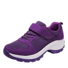 Kvinder læder mesh med Velcro Sneakers & Atletik