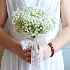 Атлас/Шелковые Свадебные букеты -
