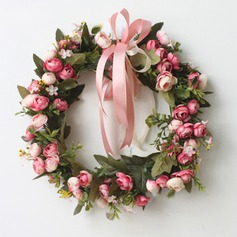 Rose Artificial Flowers Mirror Flower Home Wall Garland Wreath Wedding Flower Christmas Decoration Wreaths