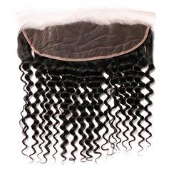 """13""""*4"""" 5A Profond les cheveux humains Fermeture (Vendu en une seule pièce)"""
