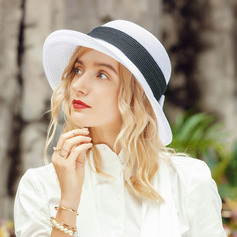Ladies' Classic/Simple Polyester With Bowknot Beach/Sun Hats/Kentucky Derby Hats