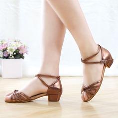 Femmes Cuir en microfibre Talons Sandales Latin Chaussures de danse