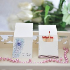 Personalized Peacock Feather Hard Card Paper Matchboxes