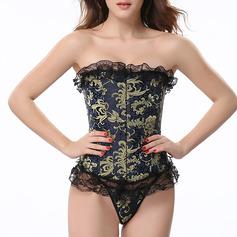 Kvinner Vrouwelijk/Sexy/Elegant Spandex Kleur bodysuit Corrigerend Ondergoed