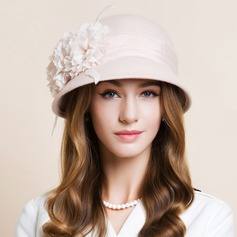 Dames Beau Coton avec Fleur en soie Chapeau melon / Chapeau cloche