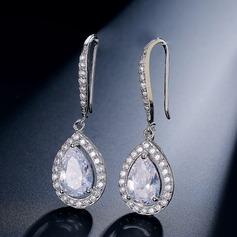 Brillant Zircon de Dames Boucles d'oreilles
