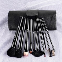 Natural Goat Hair/Pony Hair Exquisite 11Pcs PU Pouch Makeup Supply
