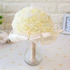 Romantique Rond Satiné Bouquets de mariée -