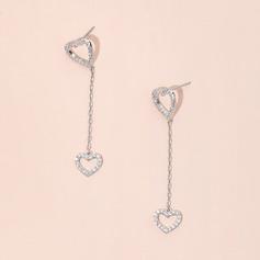 dropøreringe hjerte zircon Hjerte Pierced øreringe