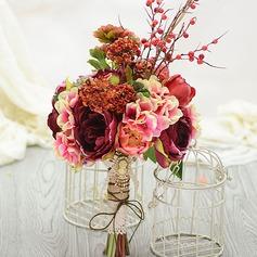 Lindo Forma livre Seda artificiais Buquês de noiva