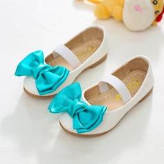 Flicka Stängt Toe konstläder platt Heel Platta Skor / Fritidsskor Flower Girl Shoes med Bowknot