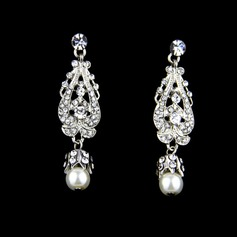 Charme Alliage/Strass/De faux pearl avec Strass/De faux pearl Dames Boucles d'oreilles