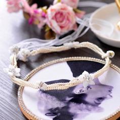 Damer Utsøkt Crystal/Rhinestone/Imitert Perle Tiaraer med Venetianske Perle/Imitert Krystall