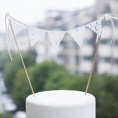 Bandeira Renda (conjunto de 5) Bandeira Decorações de casamento