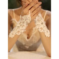 Tüll/Spitze Handgelenk Länge Braut Handschuhe