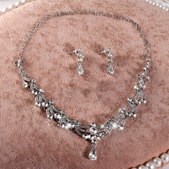 Pretty Rhinestones/Imitation Pearls With Imitation Pearls Ladies' Jewelry Sets