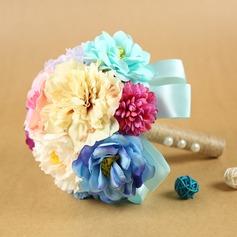 Elegant Rund Tørrede Blomster Brude Buketter -