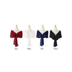 Effen kleur Sjaal Polyester Poncho