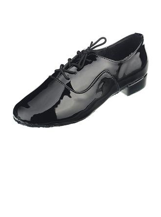Men's Leatherette Heels Latin Ballroom Practice Character Shoes Dance Shoes