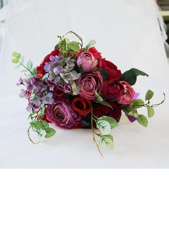Käsin Sidottu Tekokukat Morsiamen kukkakimppuihin (myydään yhtenä kappaleena) - Morsiamen kukkakimppuihin