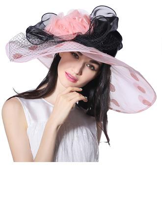 Dames Glamour/Élégante/Exceptionnel Organza avec Tulle Kentucky Derby Des Chapeaux/Chapeaux Tea Party
