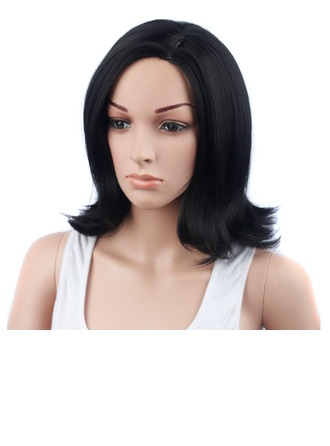 High temperature Straight Mid-Length Synthetic Wigs African American Wigs
