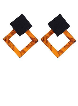 Alliage Acrylique Boucles d'oreille de mode (Lot de 2)
