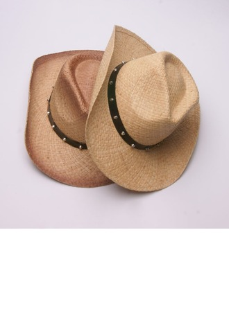 Men's Glamourous/Elegant/Simple Raffia Straw Cowboy Hat