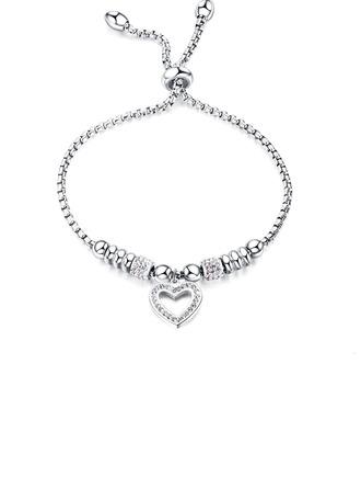 Link & kæde Brudepige armbånd Bolo armbånd med hjerte - Valentines Gaver Til Hende