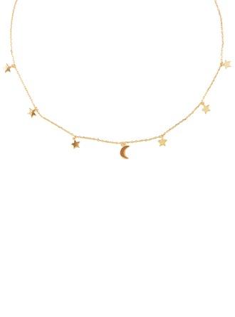 Silber Mond Star Charm Halskette Für Frauen Für die Freundin