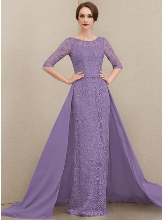 Платье-чехол Круглый Sweep/Щетка поезд шифон Кружева Платье Для Матери Невесты