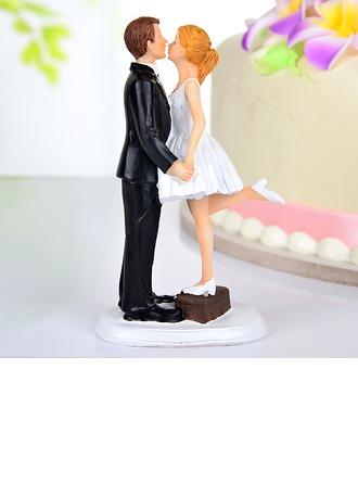 Kissing Couple Resin Wedding Cake Topper